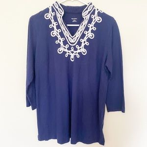 TanJay Detailed Throw-over Tunic Shirt